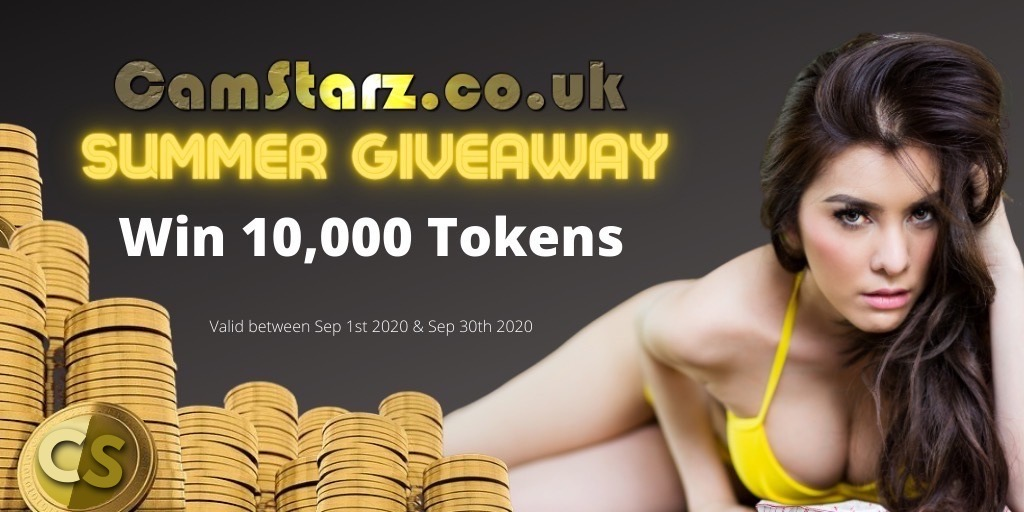 Win 10,000 Tokens in the CamStarz.co.uk Summer Competition Giveaway