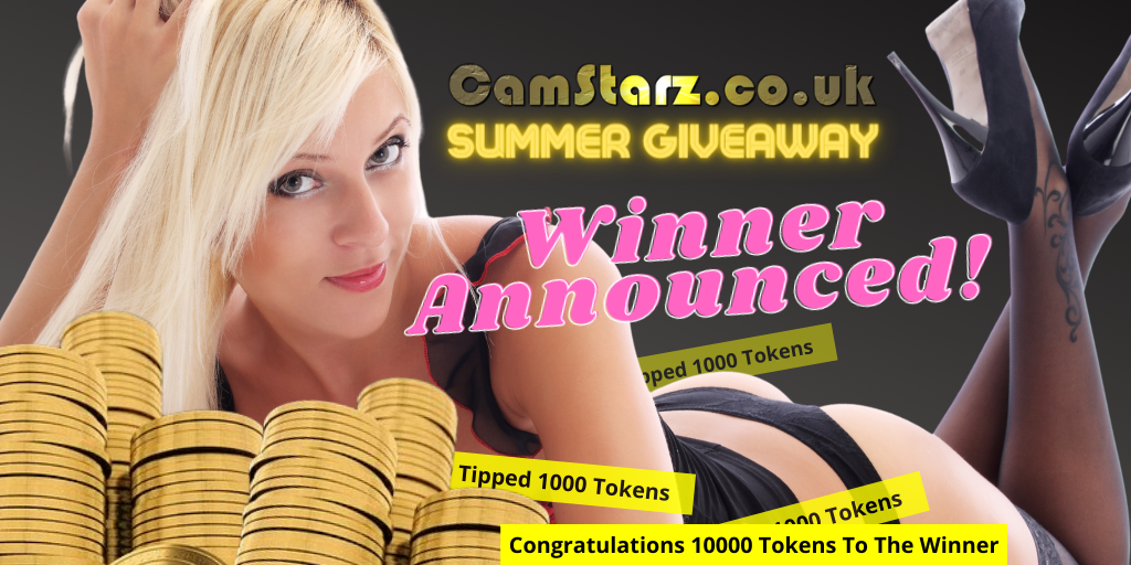 CamStarz 10000 Tokens Summer Giveaway Winner Announced!